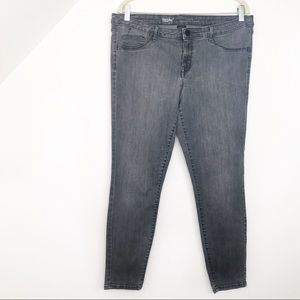 Mossimo Mid Rise Grey Jegging Skinny Jeans SIZE 16